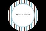 Rayures bleues Étiquettes arrondies - gabarit prédéfini. <br/>Utilisez notre logiciel Avery Design & Print Online pour personnaliser facilement la conception.