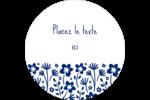 Petit bouquet bleu Étiquettes arrondies - gabarit prédéfini. <br/>Utilisez notre logiciel Avery Design & Print Online pour personnaliser facilement la conception.