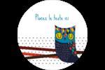 Hibou rusé Étiquettes arrondies - gabarit prédéfini. <br/>Utilisez notre logiciel Avery Design & Print Online pour personnaliser facilement la conception.
