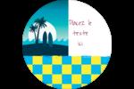 Surf tropical Étiquettes arrondies - gabarit prédéfini. <br/>Utilisez notre logiciel Avery Design & Print Online pour personnaliser facilement la conception.