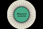 Explosion de vert Étiquettes arrondies - gabarit prédéfini. <br/>Utilisez notre logiciel Avery Design & Print Online pour personnaliser facilement la conception.
