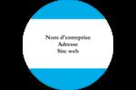 Barre bleue Étiquettes arrondies - gabarit prédéfini. <br/>Utilisez notre logiciel Avery Design & Print Online pour personnaliser facilement la conception.
