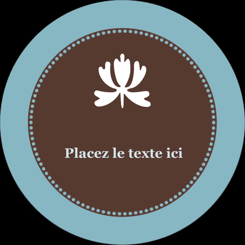 """3-7/16"""" x 15/16"""" Étiquettes de classement - Bordure en brun et bleu"""