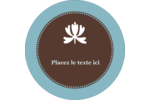 Bordure en brun et bleu Étiquettes de classement - gabarit prédéfini. <br/>Utilisez notre logiciel Avery Design & Print Online pour personnaliser facilement la conception.