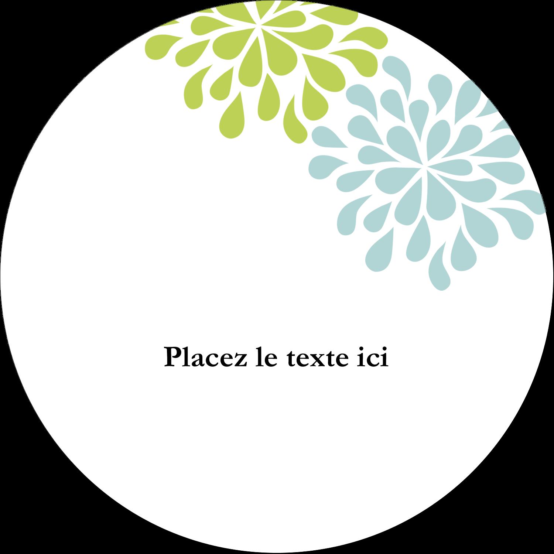 """3-7/16"""" x 15/16"""" Étiquettes de classement - Fleurs bleues et vertes"""