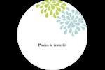 Fleurs bleues et vertes Étiquettes de classement - gabarit prédéfini. <br/>Utilisez notre logiciel Avery Design & Print Online pour personnaliser facilement la conception.