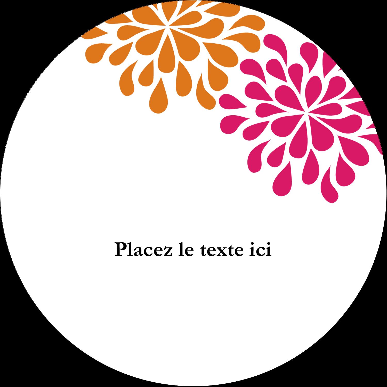 """3-7/16"""" x 15/16"""" Étiquettes de classement - Fête prénuptiale en rose et orange"""