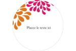 Fête prénuptiale en rose et orange Étiquettes de classement - gabarit prédéfini. <br/>Utilisez notre logiciel Avery Design & Print Online pour personnaliser facilement la conception.