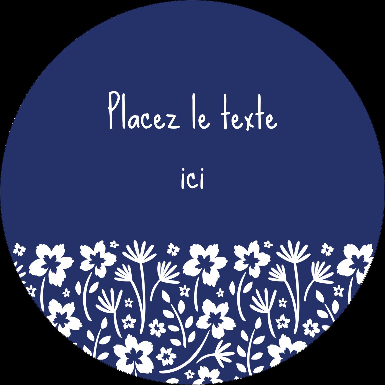 """3-7/16"""" x 15/16"""" Étiquettes de classement - Petit bouquet bleu"""