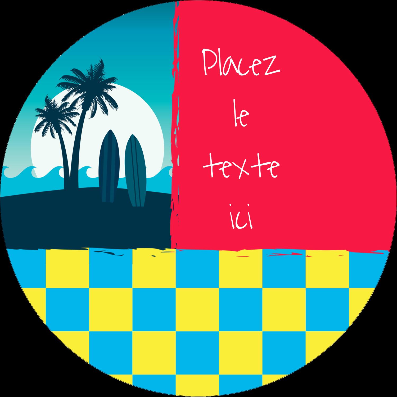 """3-7/16"""" x 15/16"""" Étiquettes de classement - Surf tropical"""