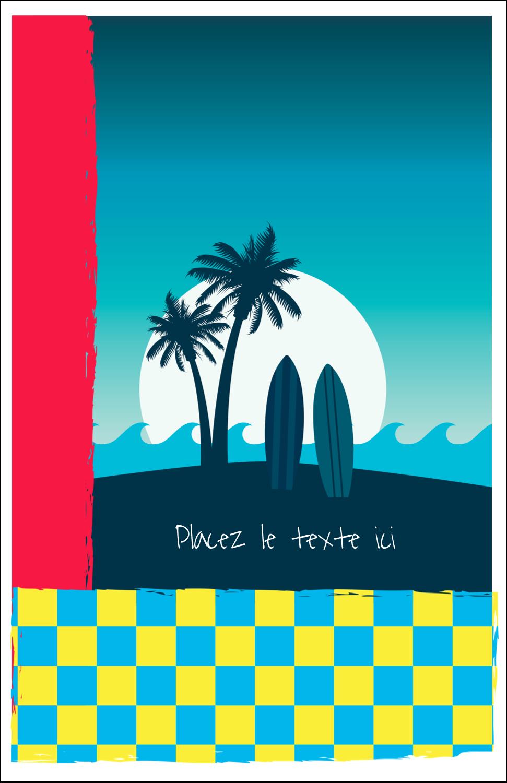 "5½"" x 8½"" Binder Insert Reliures - Surf tropical"