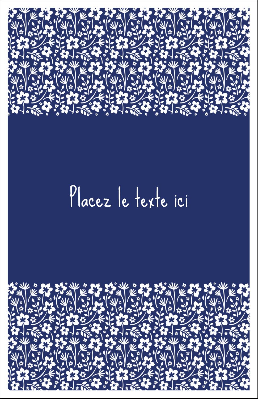"5½"" x 8½"" Binder Insert Reliures - Petit bouquet bleu"