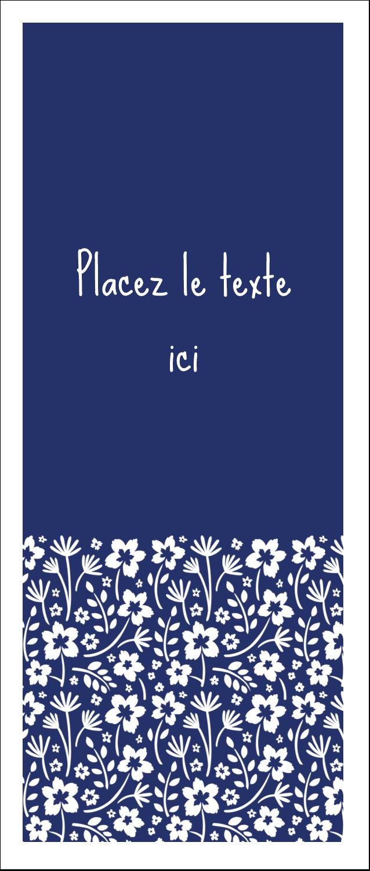 """2"""" x 3½"""" Carte d'affaire - Petit bouquet bleu"""