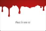 Halloween sanglante Étiquettes rectangulaires - gabarit prédéfini. <br/>Utilisez notre logiciel Avery Design & Print Online pour personnaliser facilement la conception.