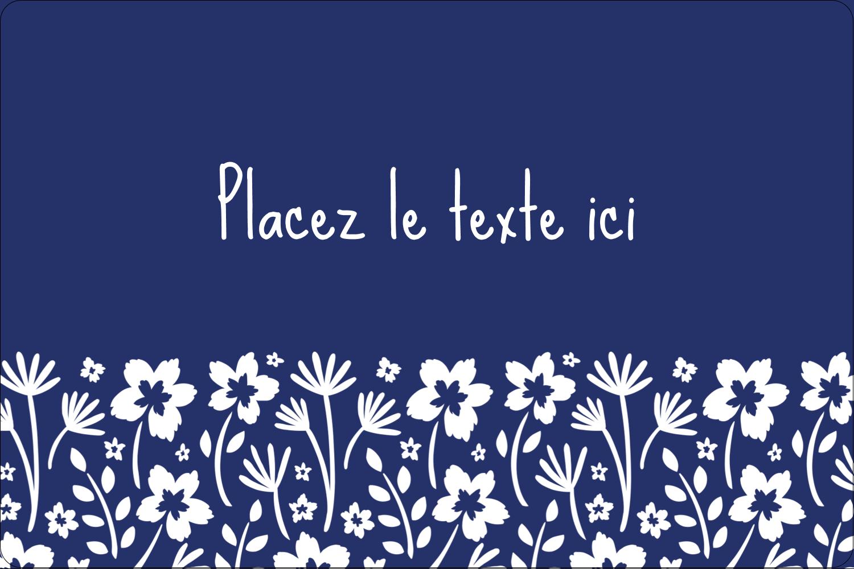 """3"""" x 3¾"""" Étiquettes rectangulaires - Petit bouquet bleu"""