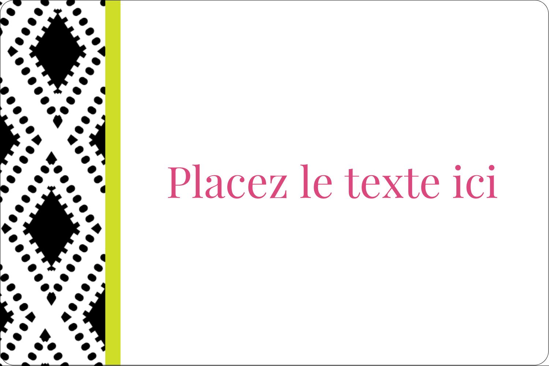 """3"""" x 3¾"""" Étiquettes rectangulaires - Damas décoratif"""