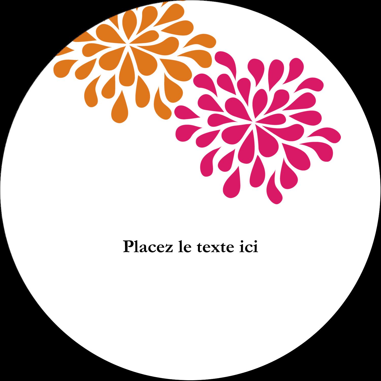 """4¾"""" x 3½"""" Étiquettes arrondies - Fête prénuptiale en rose et orange"""
