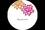 Fête prénuptiale en rose et orange Étiquettes arrondies - gabarit prédéfini. <br/>Utilisez notre logiciel Avery Design & Print Online pour personnaliser facilement la conception.