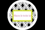 Damas décoratif Étiquettes arrondies - gabarit prédéfini. <br/>Utilisez notre logiciel Avery Design & Print Online pour personnaliser facilement la conception.