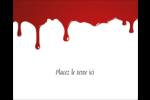 Halloween sanglante Étiquettes rondes gaufrées - gabarit prédéfini. <br/>Utilisez notre logiciel Avery Design & Print Online pour personnaliser facilement la conception.