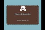 Bordure en brun et bleu Étiquettes rectangulaires - gabarit prédéfini. <br/>Utilisez notre logiciel Avery Design & Print Online pour personnaliser facilement la conception.