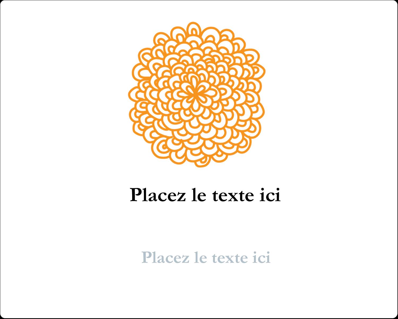 """2"""" Diameter Étiquettes rondes gaufrées - Ex-libris générique"""