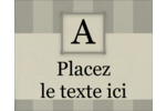 Initiale ex-libris Étiquettes rectangulaires - gabarit prédéfini. <br/>Utilisez notre logiciel Avery Design & Print Online pour personnaliser facilement la conception.