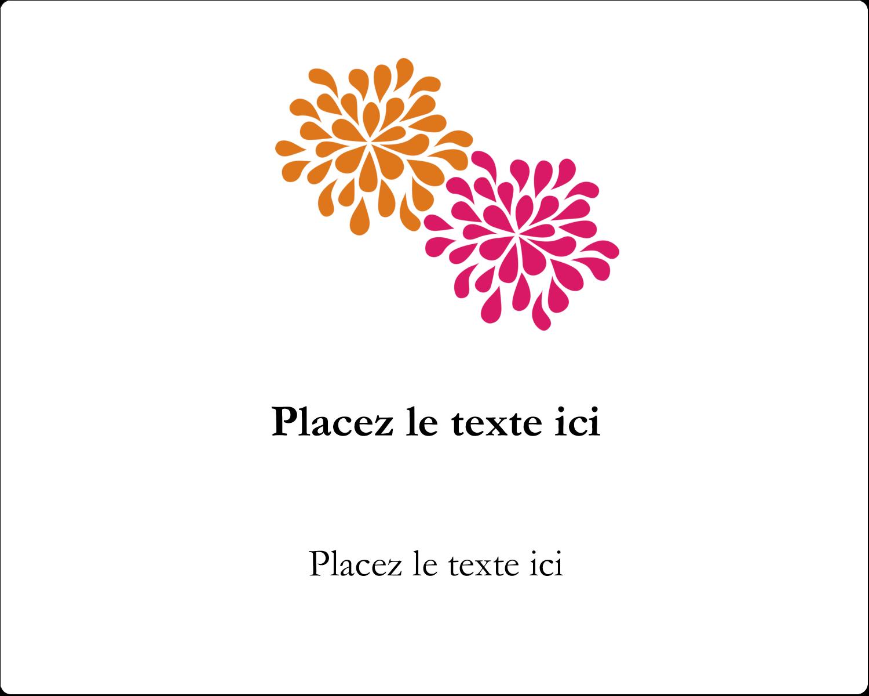 """3"""" x 3¾"""" Étiquettes rectangulaires - Fête prénuptiale en rose et orange"""