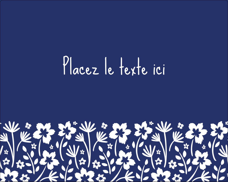 """2"""" Diameter Étiquettes rondes gaufrées - Petit bouquet bleu"""
