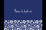 Petit bouquet bleu Étiquettes rondes gaufrées - gabarit prédéfini. <br/>Utilisez notre logiciel Avery Design & Print Online pour personnaliser facilement la conception.