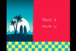 Surf tropical Étiquettes rondes gaufrées - gabarit prédéfini. <br/>Utilisez notre logiciel Avery Design & Print Online pour personnaliser facilement la conception.