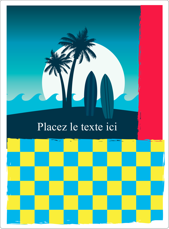 """2½"""" Diameter Étiquettes rondes - Surf tropical"""