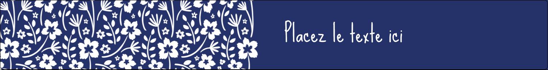 """1½"""" x 2½"""" Étiquettes ovales - Petit bouquet bleu"""