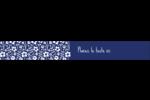 Petit bouquet bleu Étiquettes ovales - gabarit prédéfini. <br/>Utilisez notre logiciel Avery Design & Print Online pour personnaliser facilement la conception.