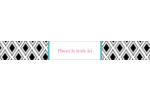 Damas décoratif Étiquettes ovales - gabarit prédéfini. <br/>Utilisez notre logiciel Avery Design & Print Online pour personnaliser facilement la conception.