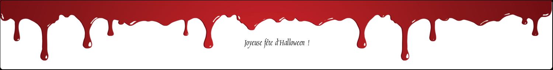 """1½"""" x 2½"""" Étiquettes ovales - Halloween sanglante"""