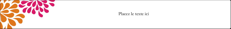 """1½"""" x 2½"""" Étiquettes ovales - Fête prénuptiale en rose et orange"""