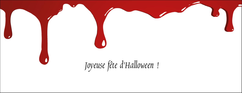 """1-7/16"""" x 3¾"""" Affichette - Halloween sanglante"""