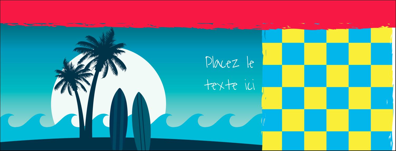 """1-7/16"""" x 3¾"""" Affichette - Surf tropical"""