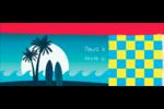 Surf tropical Affichette - gabarit prédéfini. <br/>Utilisez notre logiciel Avery Design & Print Online pour personnaliser facilement la conception.