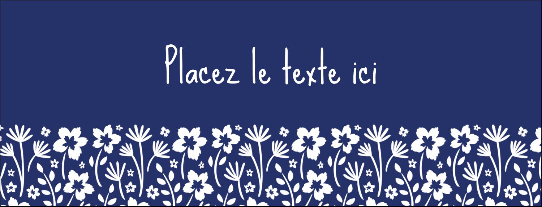 """1-7/16"""" x 3¾"""" Affichette - Petit bouquet bleu"""