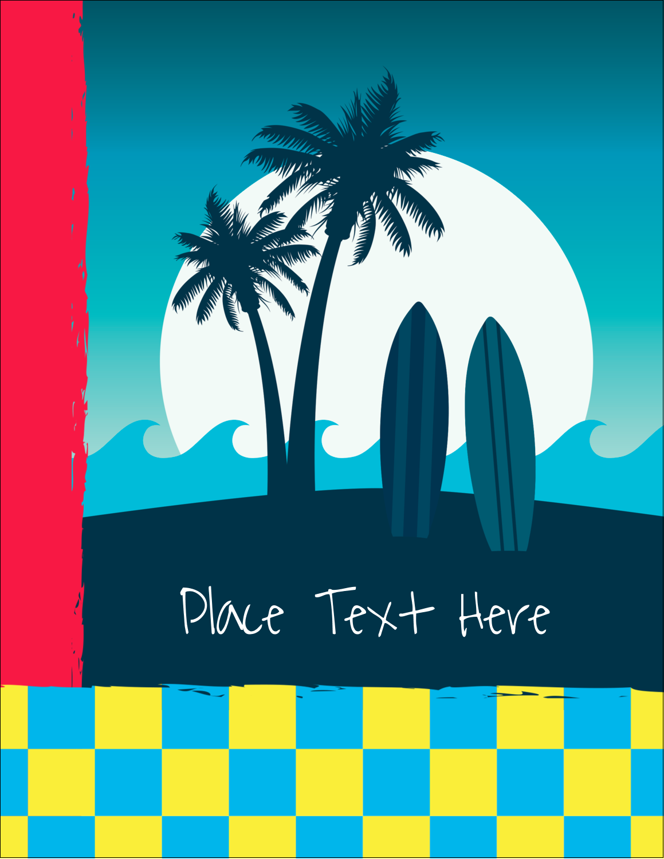"4¼"" x 5½"" Postcard - Tropical Surf"