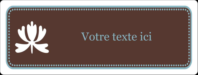 """½"""" x 1¾"""" Étiquettes D'Adresse - Bordure en brun et bleu"""