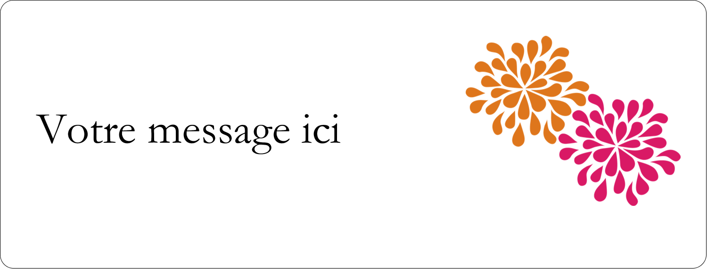 """½"""" x 1¾"""" Étiquettes D'Adresse - Fête prénuptiale en rose et orange"""
