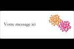 Fête prénuptiale en rose et orange Étiquettes D'Adresse - gabarit prédéfini. <br/>Utilisez notre logiciel Avery Design & Print Online pour personnaliser facilement la conception.