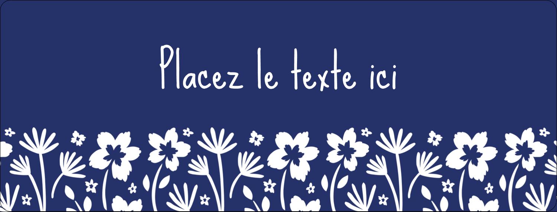 """½"""" x 1¾"""" Étiquettes D'Adresse - Petit bouquet bleu"""