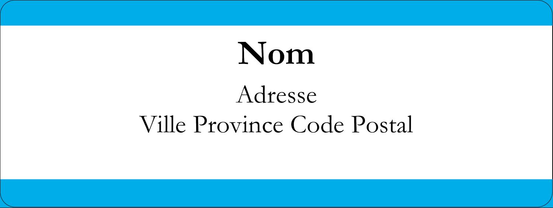 """⅔"""" x 1¾"""" Étiquettes D'Adresse - Barre bleue"""