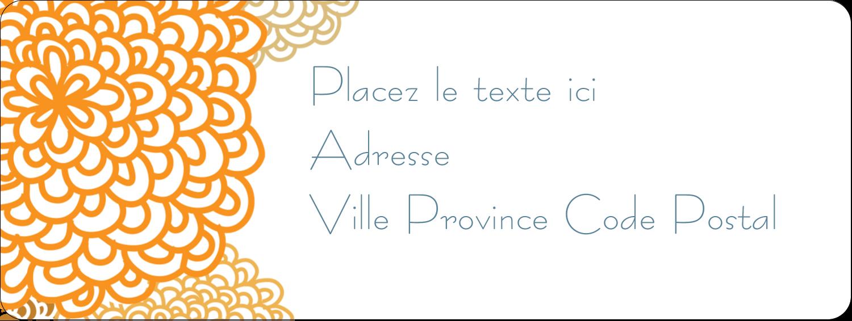 """⅔"""" x 1¾"""" Étiquettes D'Adresse - Ex-libris générique"""