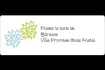 Fleurs bleues et vertes Étiquettes D'Adresse - gabarit prédéfini. <br/>Utilisez notre logiciel Avery Design & Print Online pour personnaliser facilement la conception.