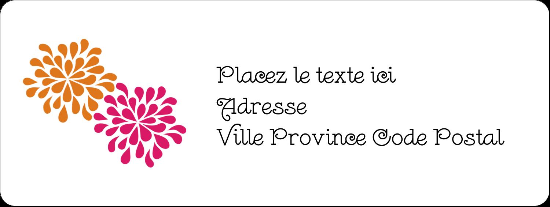 """⅔"""" x 1¾"""" Étiquettes D'Adresse - Fête prénuptiale en rose et orange"""